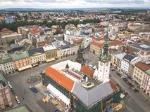 Aerial shot of Olomouc city in Moravia region. Of Czech Republic Royalty Free Stock Photography