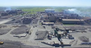 Aerial shot of ore processing plant at a mine
