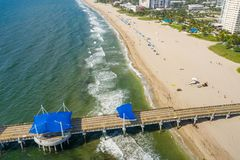 Aerial shot of Pompano Beach. For post card stock photo