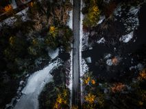 Aerial Shot Of Road stock photography