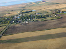 Aerial shot of Saskatchewan Royalty Free Stock Photo