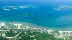 In aerial shot of the sea Stock Image