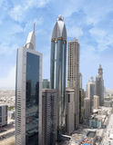 Aerial Shot of Sheikh Zayed Road Stock Image