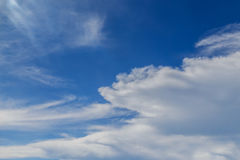 Aerial Shot of Sky with Clouds Stock Photography