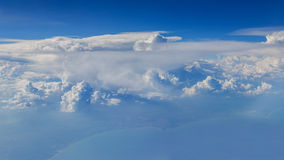 Aerial Shot of Sky with Clouds Royalty Free Stock Photo