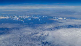 Aerial Shot of Sky with Clouds Stock Images