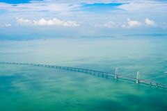 Aerial the bridge. Stock Photography