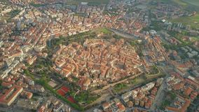 Aerial shot of star shaped city of Grosseto. Tuscany, Italy stock image