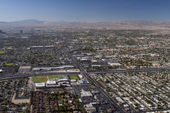 Aerial shot taken in Las Vegas Stock Photography