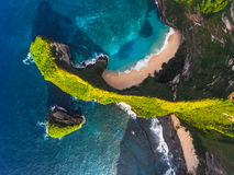 Aerial shot of the tropical coast Royalty Free Stock Photo