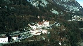 Aerial shot of typical Alpine scenery of northern Italy. Aerial shot of typical Alpine scenery stock video