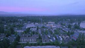 Aerial shot upwards above the horizon in the beautiful Pacific North West stock video footage