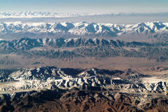 Aerial shot of the west china of Qinghai Royalty Free Stock Photos