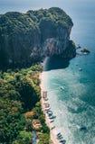 Phra Nang Cave aerial shot royalty free stock photography