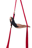 Aerial silk dancer Stock Photos