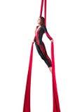 Aerial silk dancer Royalty Free Stock Photos