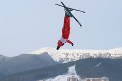Aerial skiing Royalty Free Stock Photos