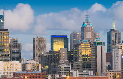 Aerial skyline of Melbourne, Australia Stock Images