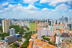 Aerial skyline of Singapore stock photos