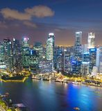 Aerial skyline of Singapore Downtown royalty free stock photo