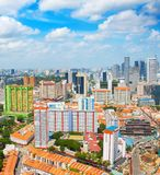 Aerial skyline of Singapore royalty free stock images