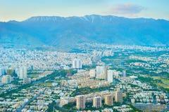 Tehran aerial view, Iran stock photo