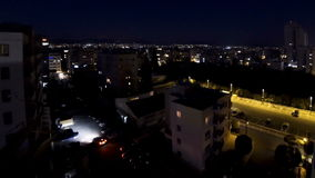 Aerial skyline view of Limassol city in evening, Cyprus stock video footage