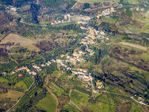 Aerial of a small typical village in the Arezzo region Royalty Free Stock Photography