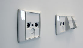 Aerial socket outlets Royalty Free Stock Photo