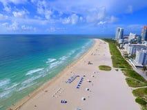 Aerial south beach florida Stock Photo