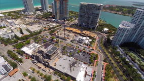 Aerial South Beach Miami Beach stock footage