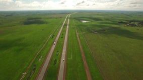 Aerial South Dakota Countryside stock video footage
