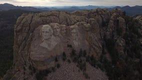 Aerial South Dakota Mt Rushmore stock video footage