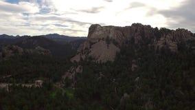 Aerial South Dakota Mt Rushmore stock video