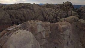 Aerial South Dakota Mt Rushmore stock footage