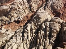 Aerial of southwest red rocks. Stock Images