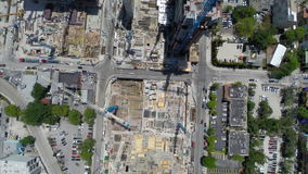 Aerial spin over Brickell Stock Photos