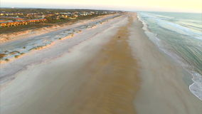 Aerial St Augustine Florida beach stock footage