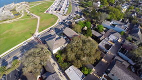 Aerial st augustine Florida stock video footage