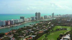 Aerial stock footage of Miami Beach Florida. USA stock video footage