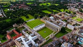 Aerial View Stock Photo Of Cambridge University UK. Aerial Stock Photo Of Education Icon Cambridge University in England UK Royalty Free Stock Images
