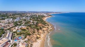 aerial Strand bei Olhos de Agua in Portugal Stockfotografie
