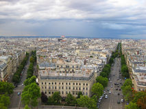 Aerial Street View of Paris, France Stock Photo