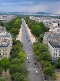 Aerial Street View of Paris, France Royalty Free Stock Photography