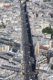 Aerial streetview Stock Photography