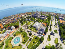 Aerial Sultanahmet Square. Sultanahmet Square and Blue Mosque Royalty Free Stock Images