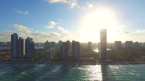 Aerial Sunny Isles Beach FL 4 stock video footage