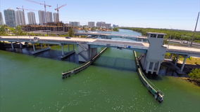 Aerial Sunny Isles Bridge Stock Photos