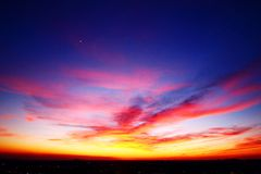 Aerial Sunset Royalty Free Stock Photography