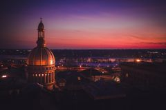 Aerial Sunset in Trenton New Jersey royalty free stock images